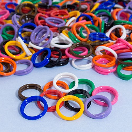 30 Pack Spiral Chicken Poultry Leg Bands Rings - #11 11/16