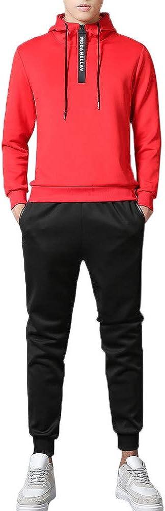 YOcheerful Plus Size Mens Sportswear Set Boy Sports Hoodie Hoody Sport Pullover