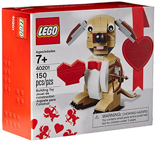 LEGO Bricks Valentines Cupid Dog Building Kit