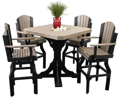 Furniture Barn USA Classic Poly Bar Table and 4 Swivel Bar C