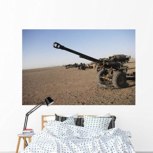 Howitzer 105mm Light Guns Wall Mural by Wallmonkeys Peel and Stick Graphic (72 in W x 48 in H) WM232760