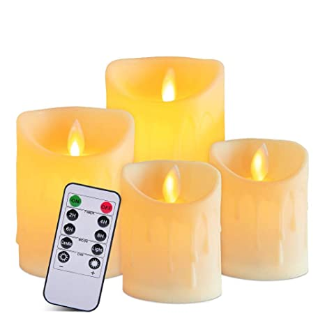 Amazoncom Flameless Candles Set Of 4 Battery Operated Candles