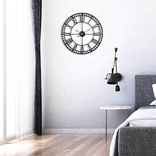 24 Inch Oversize Metal Wall Clock Industrial Vintage Clock Large Decor Wall Hanging for Living Room,with Silent Distressed Clock Hands (24inch)