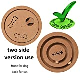 Best Interactive Pet Intelligence Toy – Pet Food Dispenser Treated Wooden Intellectual Puzzle IQ Hide and Seek Toy Game for Dogs Cats Pets, Natural Bowls Feeder for Small Medium Large Dogs and Cats