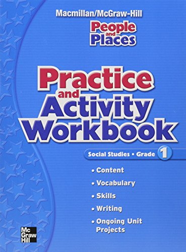 Practice and Activity Workbook: Social Studies, Grade 1 (People and Places)
