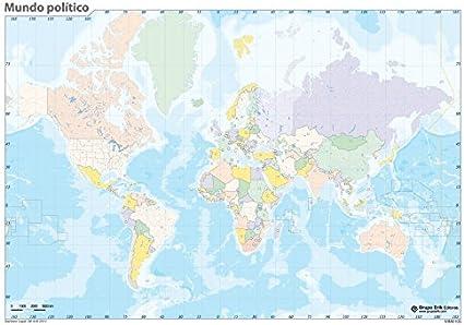 Grupo Erik Editores Mapa Mudo Mundo Politico: Amazon.es: Oficina y papelería