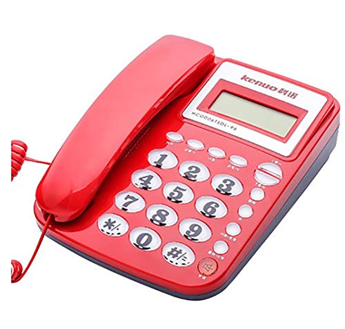 ZTMN Corded Phones Wall Phone Cable Caller ID Display Telecom Home Elderly Mini Wall Mounted Office Stationary Telephone Set (Color : RED) (Id Telecom Caller)