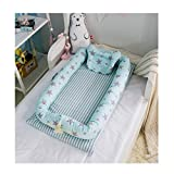Baby Portable Travel Bed Side Sleeper for 0-24 Months Newborn Baby (Star-Green)