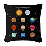 Woven Throw Pillow Solar System Sun Moon and Planets