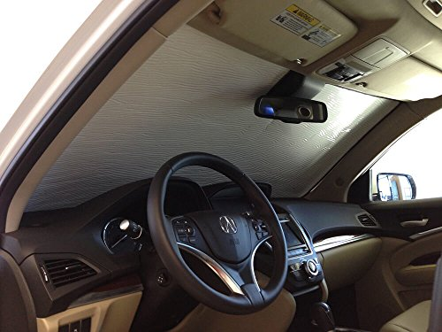 The Original Windshield Sun Shade, Custom-Fit for Acura MDX SUV w/Sensor 2014, 2015, 2016, 2017, 2018, 2019, Silver ()