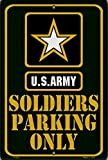 Army SOLDIER PARKING Green Large 12''x18'' Metal Parking Sign Embossed Room Wall US United States Military