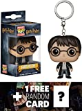 Harry Potter: Pocket POP! x Harry Potter Mini-Figure Keychain + 1 FREE Official Harry Potter Trading Card Bundle [76160]