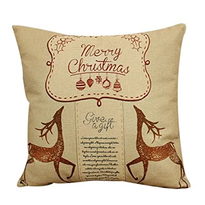 FairyTeller Vintage Christmas Sofa Bed Throw Pillow Case Cushion Cover Home Decor U6725