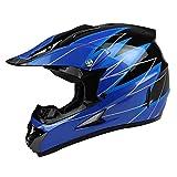 quad helmets for youth - PGR X25 Youth 360 Motocross MX BMX Dirt Bike Dune Buggy Enduro ATV Quad Off Road (Youth Large, Black Blue)