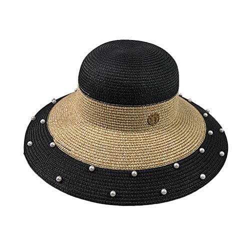 Unisex Beach Straw Hat Jazz Sunshade,Lefthigh Panama Trilby Hat Gangster Cap