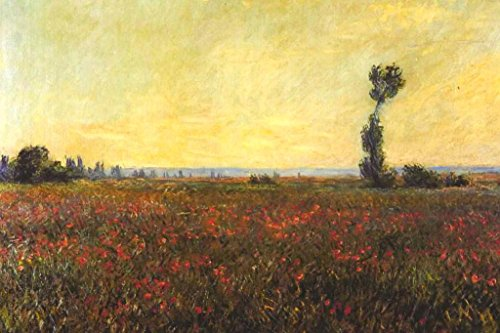 (Claude Monet Red Poppy Field Mural Giant Poster 54x36 inch)