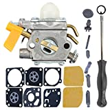 Milttor 308054013 Carburetor Rebuild Kit Adjustment Tool Fit Zama C1U-H60 26cc 30cc Homelite UT21004 Carb String Trimmer UT32600 UT32650 UT21006 UT21044 UT21046 UT29045 UT29005 UT29007 UT29047