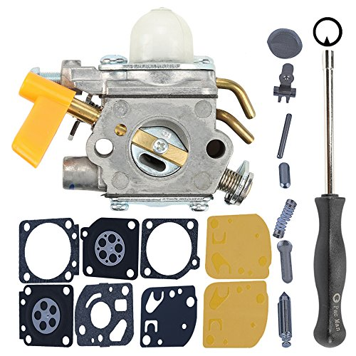 Milttor C1U-H60 Carburetor Rebuild Kit Screwdriver Fit 26cc 30cc Zama Carb 308054013 308054004 308054008 308054012 Brushcutter Trimmer