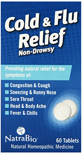 Natrabio Cold and Flu Relief Tablets, Non-Drowsy, 60 Count