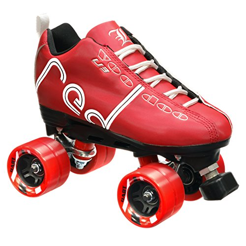 New! Labeda Voodoo U3 Quad Roller Speed Skates Customized Red w/ Red Dart Wheels! (Mens 8 / Ladies 9) (Boot Labeda)