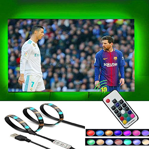 - 6.56ft TV Led Light Strip,LEIMI TV Backlight Strip,USB Bias Monitor Lighting,Changing Color String Kit,Dimmable RGB Led Strip,Waterproof Led Light strip for TV 32