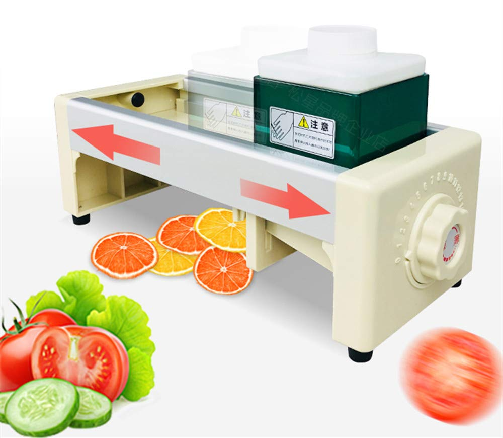 NEWTRY 1-10mm Dial adjustable Commercial Fruit and Vegetable Slicer Manual Lemon Cutting Machine Super Thin Slice for Ginger Potato