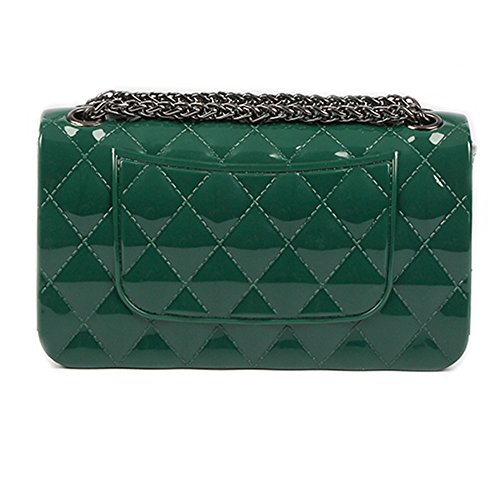 Young & Ming - Mini Jelly diamante Borse Donna Borse a tracolla Shoulder Bag con catena metallica Fashion Handbag