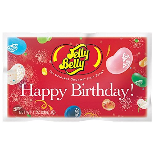 Snack Happy Birthday - Jelly Belly - Happy Birthday Jelly Bean Bag - 20 Flavor Bag