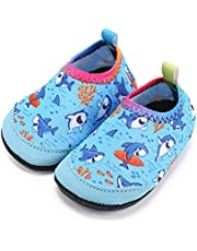 Lauwodun Baby Girls Boys Water Shoes Barefoot Aqua Sock Infant Toddler Walking Shoes for Beach Pool Indoor Outdoor