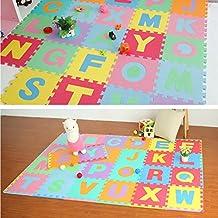 GreatFun 36pcs Alphabet Numbers EVA Floor Play Mat Baby Room Jigsaw ABC Foam Puzzle Baby Toys