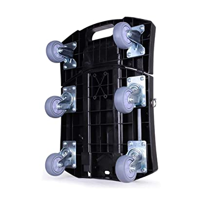 GZ Carrito Plegable Dolly con Ruedas giratorias bloqueadas Carretilla Manual Plegable Manija Flexible Plegable Flatform Carrito