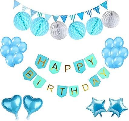 Paquete de decoración para fiesta de cumpleaños, 18 pompones ...