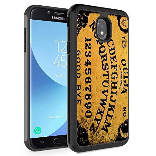 Galaxy J7 2018/J7 Refine/J7 Star/J7 TOP/ J7 Aero/J7 Eon Case,Rossy Hybrid TPU Plastic Dual Layer Armor Defender Protection Case for Samsung Galaxy J7 2018,Ouija Board Spooky