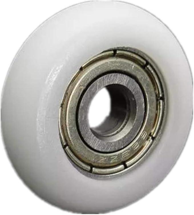 10pcs 5 7mm Nylon Plastic Carbon Steel Bearings Pulley Wheels Embedded Groove Ball Bearings 23
