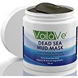 VoilaVe Dead Sea Mud Mask, Huge 16 oz. Jar Imported from Israel, Facial Mask with Shea Butter, Sunflower Oil, and Aloe Detoxifies, Exfoliates, Moisturizes and Restores Skin's Natural Radiance
