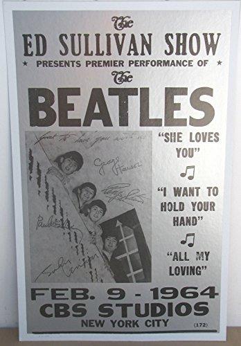 Vintage Beatles Concert Poster NYC 1964 Ed Sullivan Show (Concert Show Poster)