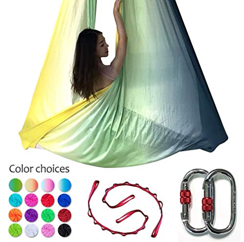 Used, DASKING Deluxe 5m/Set Yoga Swing Aerial Yoga Hammock for sale  Delivered anywhere in USA