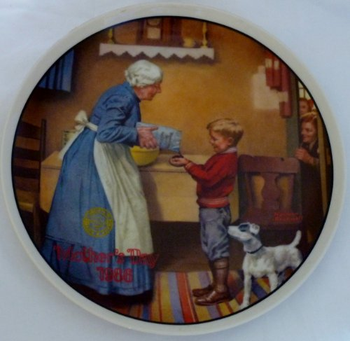 Edwin M Knowles Norman Rockwell Mother's Day 1986 The Pantry Raid Eleventh In An Annual Series Decorative Plate