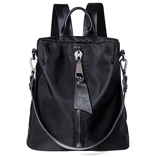 NAWO Women Durable Fabric Casual Backpack Stylish Daypack With Fashion Black