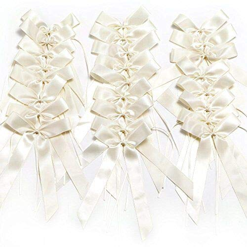 Queta Noeud Ruban Mariage Noeud Papillon Voiture Noeud Papillon Satin Ruban Mariage Voiture D/écoration beige-50pcs
