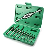 GORCHEN Damaged Screw Extractor Set Remove Stripped or Broken Screws Bolt Fastener Easy Out with Right Handed Boring Drill Bit Set 3-10mm 11pcs