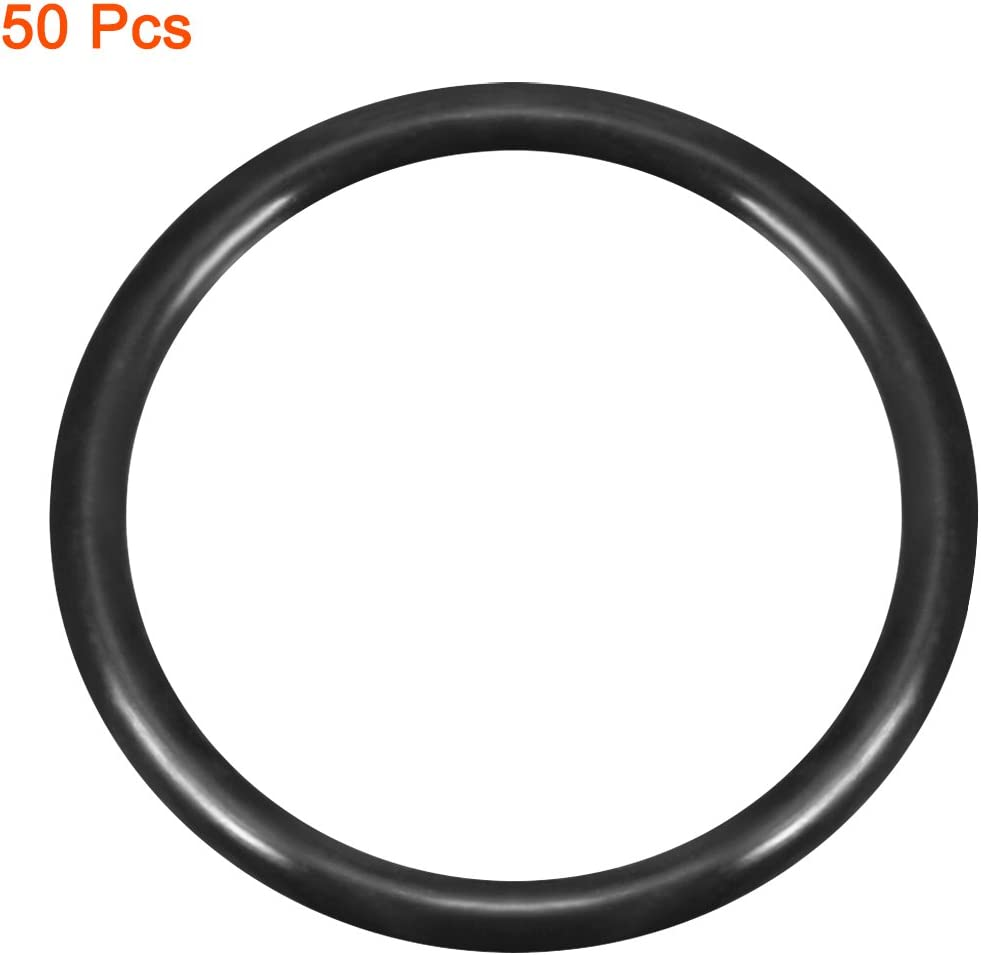 sourcing map 50 St/ücke O-Rings Nitril Gummi 14.2mm x 19mm x 2.4mm Siegel Rings Abdichtung Dichtung