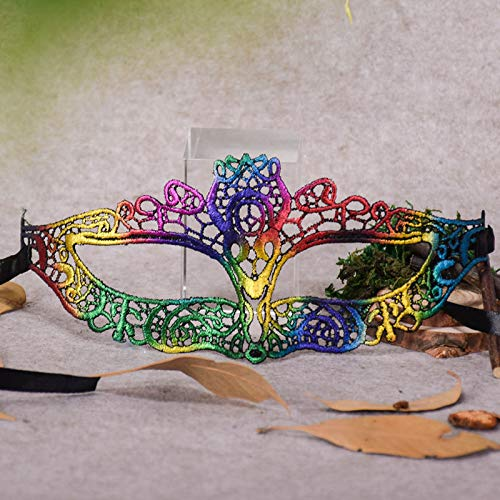 Willsa Masquerade Lace Mask Catwoman Halloween Cutout Prom Party Mask -