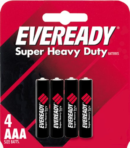 Eveready Heavy Duty 1212BP-4 AAA Batteries