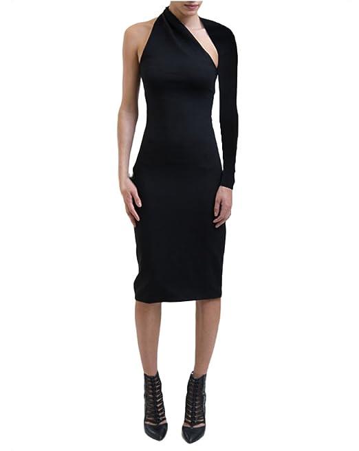 Mujer Vestidos De Fiesta Elegante Primavera Asimetricos Midi Vestido De Tubo Slim Fit Off Shoulder Backless