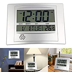 Wall Clocks - Wall Clock La Crosse Technology Wt 8002u Digital Lcd Hanging With Snooze And User Manual - Ticking Lighted Calendar Marble Yavis Wall Illuminated Rose Workout Numeral Game Iron Sil