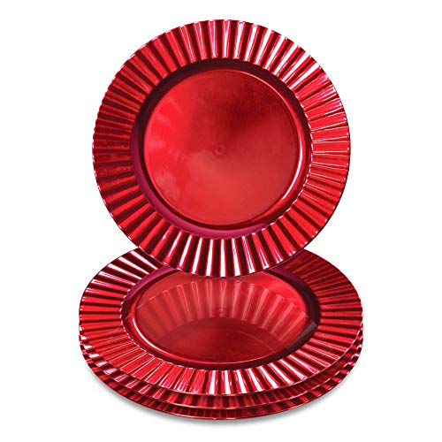 Red Charger Plates - Set of 4 13