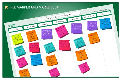 7 Column Organizing System 19 in x 24 in - Laminated and Erasable by PlanetSafe Planners