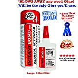 Instantbond Super Glue Instant Adhesive for Granite, Marble, Stone, Glass, Leather, Steel, Wood, MDF, Countertops