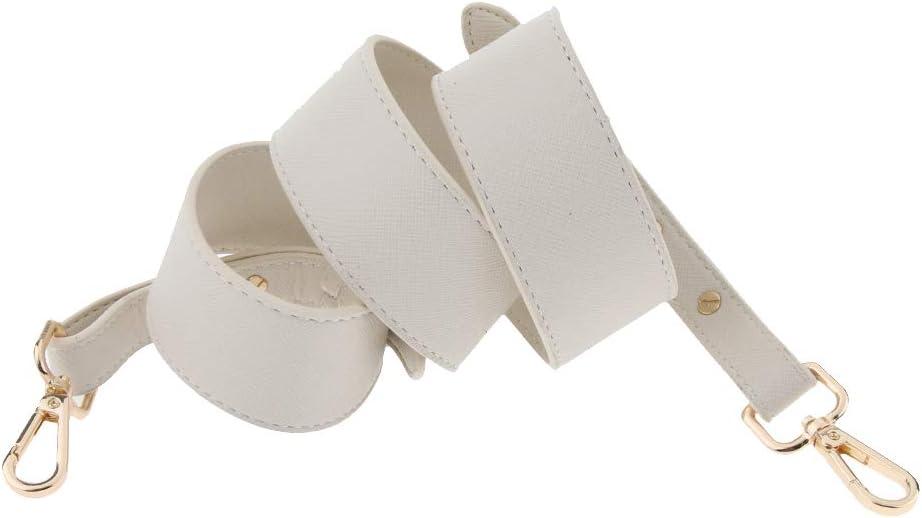 Beige Fenteer Verstellbar Trageriemen Leder Schulterriemen breiter Schultergurt Umh/ängegurt Crossbody Riemen Gurt Band